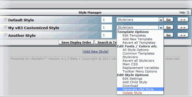 vBulletin 3 to 4 Style Converter Tool