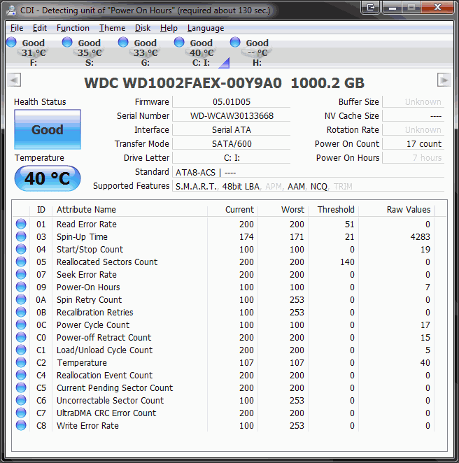 1TB Western Digital WD1002FAEX Black Cavier 6G SATAIII Hard disk