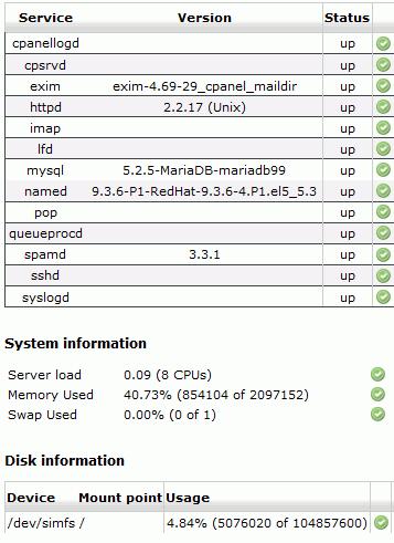 WHM Cpanel MariaDB 5.2.5 MySQL PHP 5.3.6