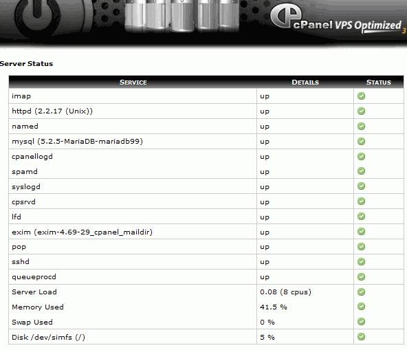Cpanel MariaDB 5.2.5 MySQL PHP 5.3.6