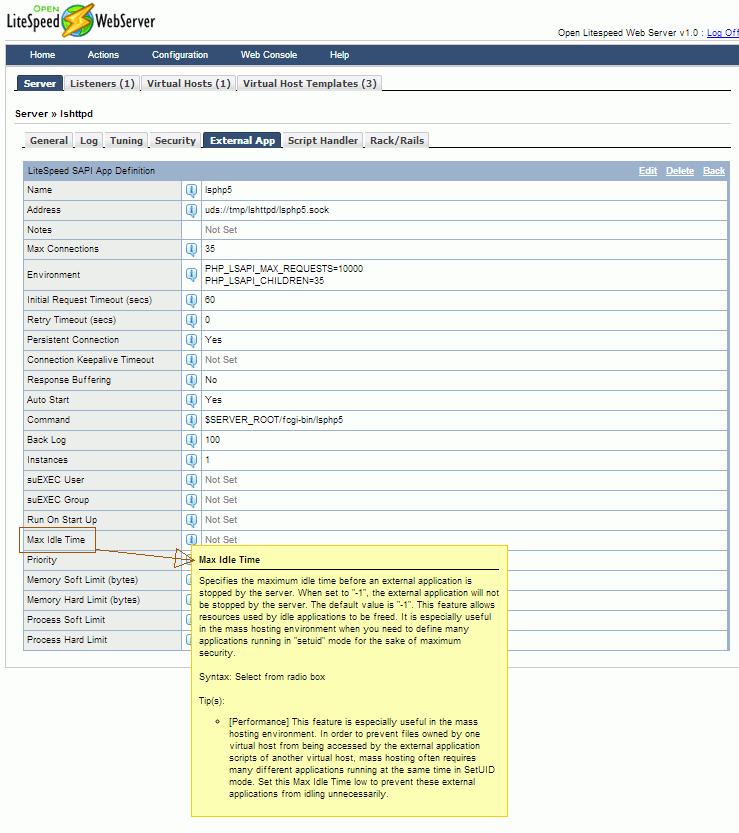 Open Litespeed: Tuning Server Settings Part 1   vbtechsupport.com